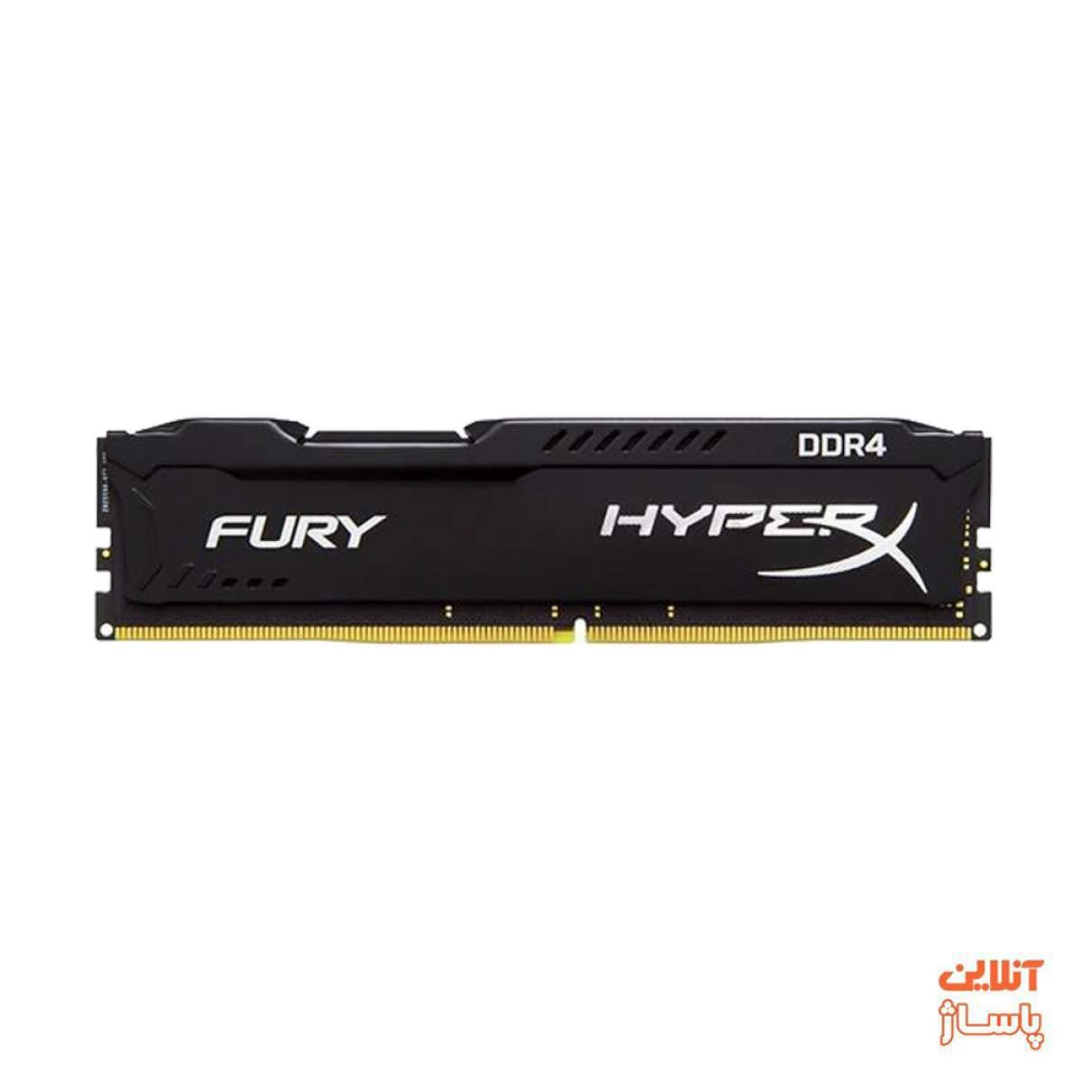رم کامپیوتر کینگستون مدل HyperX Fury DDR4 2400MHz CL15 ظرفیت 4 گیگابایت