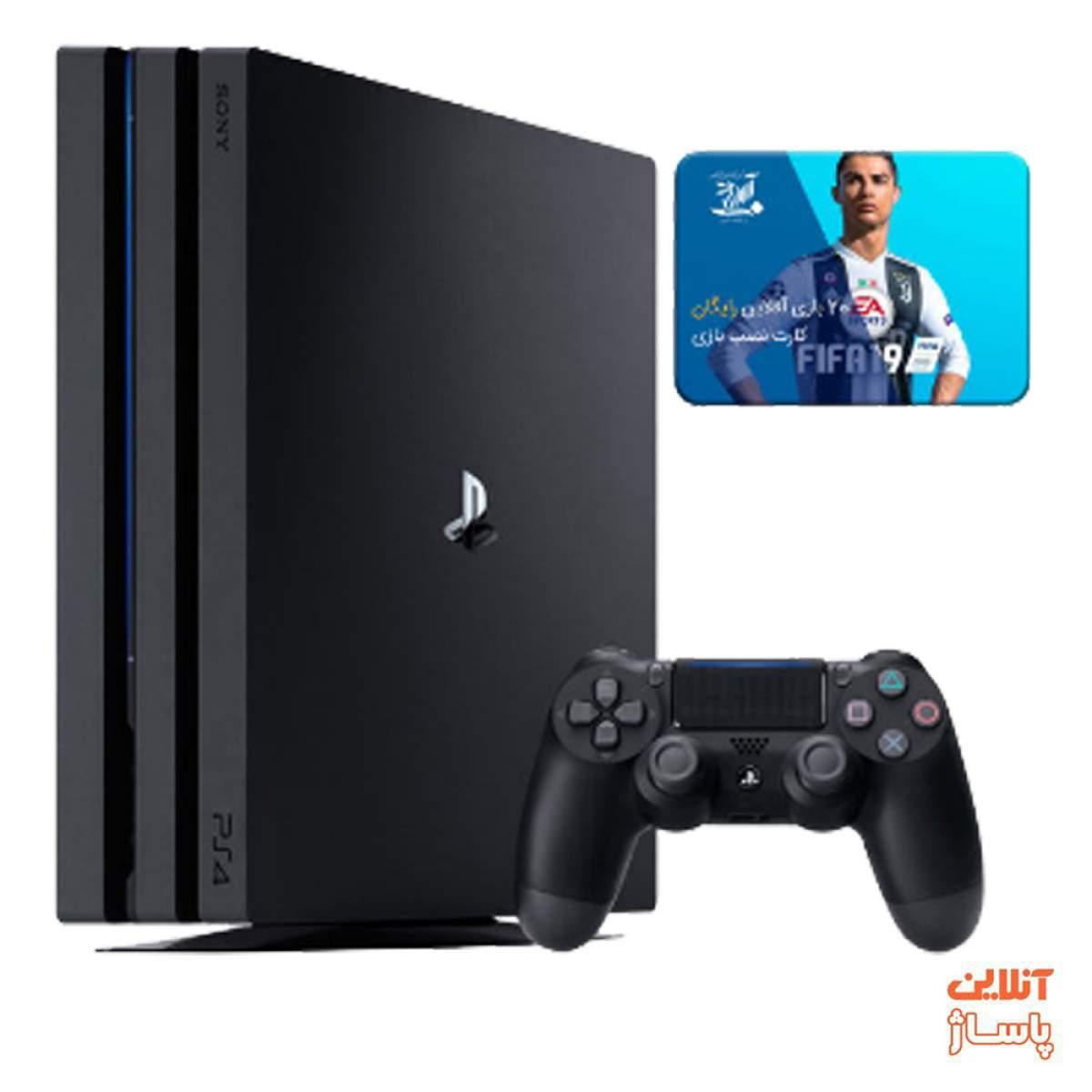 کنسول بازی سونی مدل Playstation 4 Pro کد CUH-7216B Region 2 ظرفیت 1 ترابایت به مراه 20 عدد بازی 2019