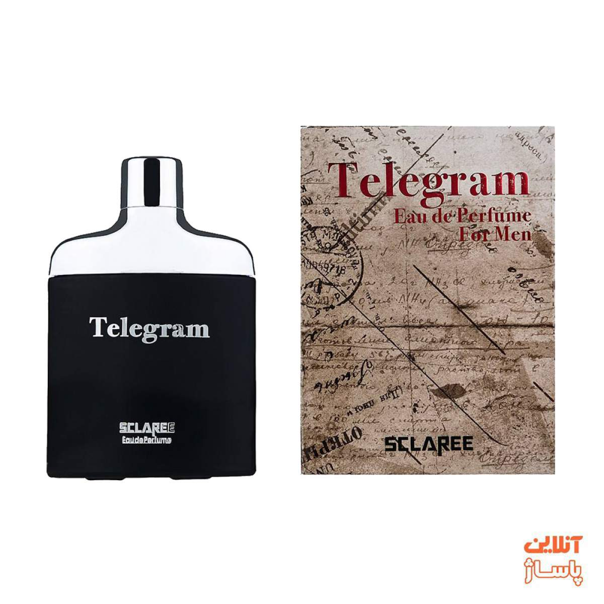 ادوپرفیوم مردانه اسکلاره مدل Telegram حجم 82 میلی لیتر به همراه ادوپرفیوم زنانه اسکلاره مدل Telegram حجم 85 میلی لیتر