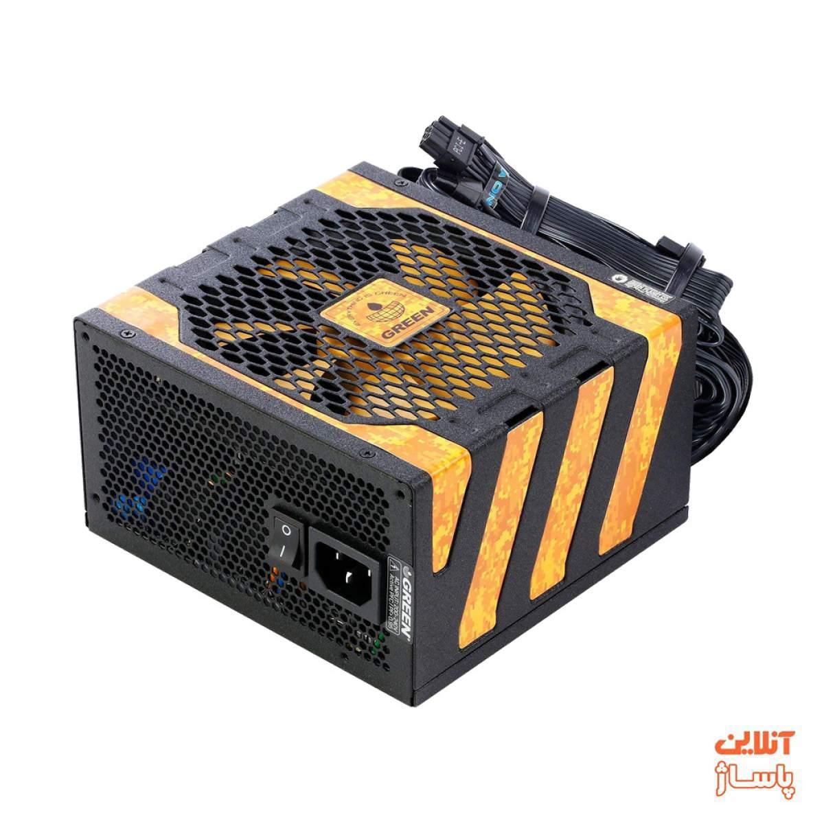 منبع تغذیه کامپیوتر گرین مدل GP500A-UK PLUS
