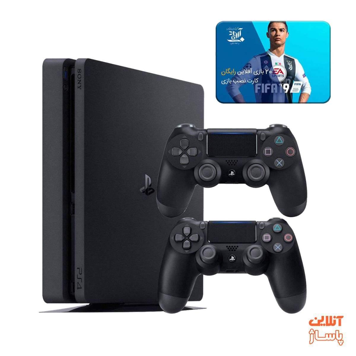 کنسول بازی سونی مدل Playstation 4 Slim ریجن 3 کد CUH-2218B ظرفیت 1 ترابایت به همراه 20 عدد بازی
