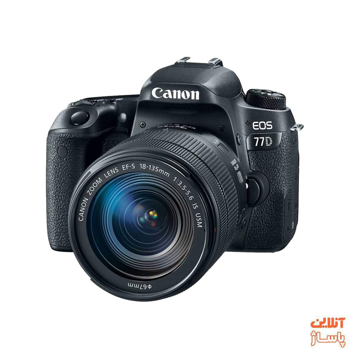 دوربین دیجیتال کانن مدل EOS 77D به همراه لنز 135-18میلی متر is usm